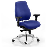 Chiro Plus Office Chair In Stevia Blue With Arms