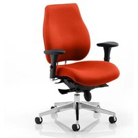 Chiro Plus Office Chair In Tabasco Red With Arms