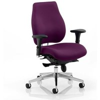 Chiro Plus Office Chair In Tansy Purple With Arms