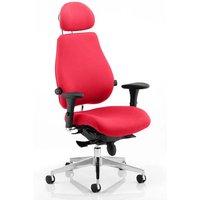 Chiro Plus Ultimate Headrest Office Chair In Bergamot Cherry