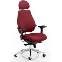 Chiro Plus Ultimate Headrest Office Chair In Ginseng Chilli