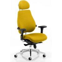 Chiro Plus Ultimate Headrest Office Chair In Senna Yellow