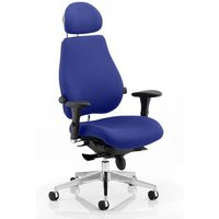 Chiro Plus Ultimate Headrest Office Chair In Stevia Blue