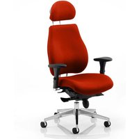 Chiro Plus Ultimate Headrest Office Chair In Tabasco Red