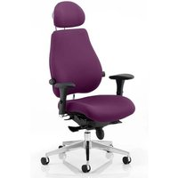 Chiro Plus Ultimate Headrest Office Chair In Tansy Purple