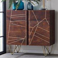 Chort Medium Wooden Sideboard In Dark Walnut With 2 Doors