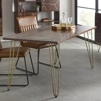 Product photograph showing Chort Wooden Dining Table In Dark Walnut