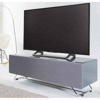 Product photograph showing Chromium Tv Stand In Grey High Gloss With Speaker Mesh Front