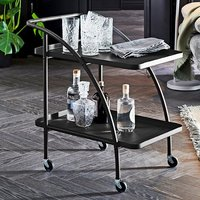 Product photograph showing Chulavista Metal Drinks And Serving Trolley In Black