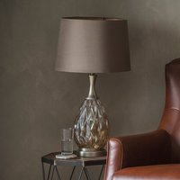 Product photograph showing Clarence Table Lamp In Champagne Finish