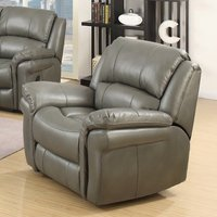 Claton Recliner Sofa Chair In Grey Faux Leather