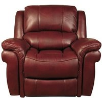 Claton Recliner Sofa Chair In Burgundy Faux Leather