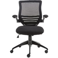 Product photograph showing Clay Bracket Shaped Office Chair In Mesh Black