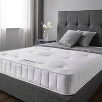 Product photograph showing Cleburne Essentials Luxury Damask Fabric Double Mattress