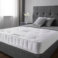 Product photograph showing Cleburne Essentials Luxury Damask Fabric King Size Mattress