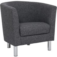 Product photograph showing Clesto Fabric Upholstered Armchair In Anthracite