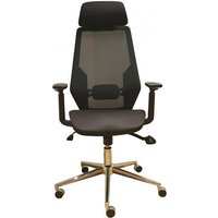 Product photograph showing Clifton Home And Office Chair In Black Mesh
