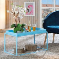 Product photograph showing Club Ny Metal Coffee Table In Candy Blue