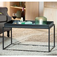 Product photograph showing Club Ny Metal Coffee Table In Deep Black