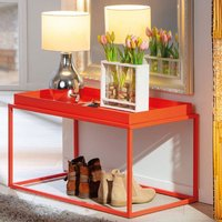 Product photograph showing Club Ny Metal Coffee Table In Juicy Orange Red