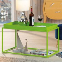 Product photograph showing Club Ny Metal Coffee Table In Pretty Green