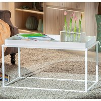 Product photograph showing Club Ny Metal Coffee Table In Snow White