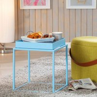 Product photograph showing Club Ny Metal Side Table In Candy Blue