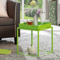 Product photograph showing Club Ny Metal Side Table In Pretty Green