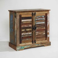 Coburg Wooden Compact Sideboard In Reclaimed Wood
