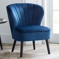 image-Coco Velvet Bedroom Chair In Blue