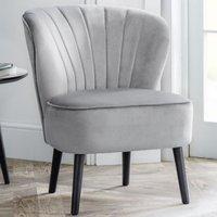 image-Coco Velvet Bedroom Chair In Grey