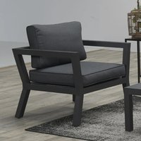 Product photograph showing Colap Armchair In Carbon Black Metal Frame