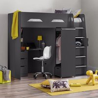Colburn Highsleeper Children Bed In Anthracite With Storage
