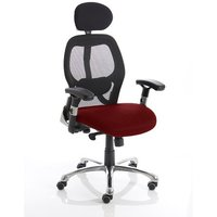 Coleen Home Office Chair In Chilli With Castors