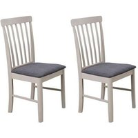 Product photograph showing Cologne Grey Fabric Padded Dining Chair In A Pair