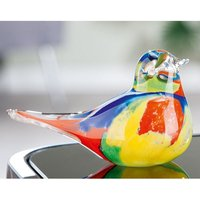 Product photograph showing Colore Glass Bird Design Sculpture In Multicolor