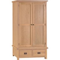 Product photograph showing Concan Wooden 2 Doors And 2 Drawers Wardrobe In Medium Oak