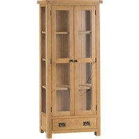 Product photograph showing Concan Wooden 2 Doors Display Cabinet In Medium Oak
