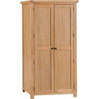 Product photograph showing Concan Wooden 2 Doors Wardrobe In Medium Oak
