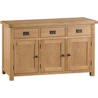 Concan Wooden 3 Doors And 3 Drawers Sideboard In Medium Oak