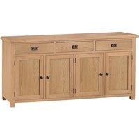 Concan Wooden 4 Doors And 3 Drawers Sideboard In Medium Oak