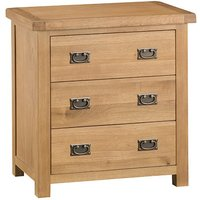 Product photograph showing Concan Wooden Chest Of 3 Drawers In Medium Oak