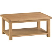 Product photograph showing Concan Wooden Coffee Table In Medium Oak