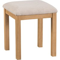Product photograph showing Concan Wooden Dressing Stool In Medium Oak