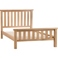 Product photograph showing Concan Wooden Super King Size Bed In Medium Oak