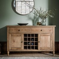 Cookham Large Sideboard In Oak With 2 Doors And 2 Drawers