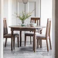 Cookham Wooden Round Extending Dining Table In Oak