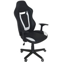 Product photograph showing Coollife Polyurethane Office Chair In Black And White With Arms