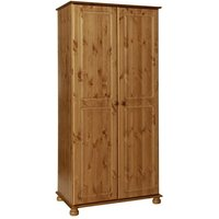 Copenham Wooden Double Door Wardrobe In Pine