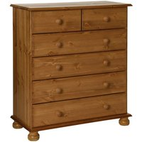 Copenham Narrow Chest Of Drawers In Pine With 6 Drawers